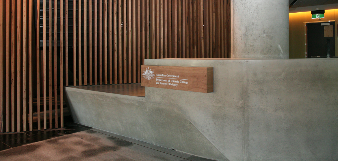 Concrete Design Nishi Reception Desk